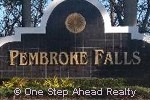 Pembroke Falls community sign